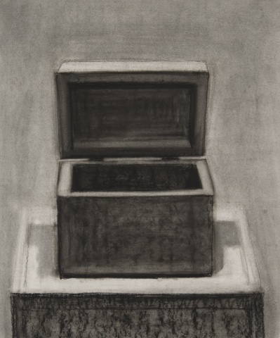 Box with Open Lid II (Drawing)