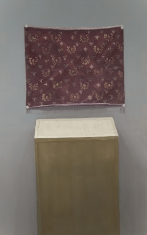 Patterned Cloth and Pedestal