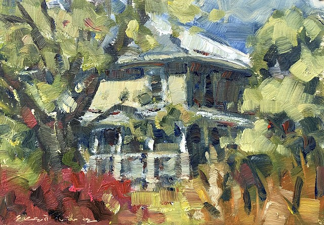 Brett LaGue original artwork landscape farmhouse
