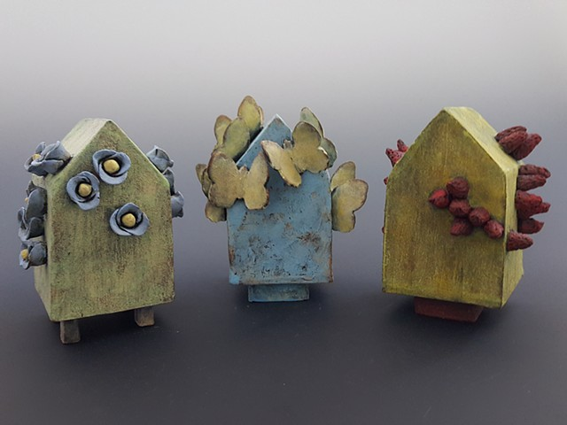 Kim Lashley-Sutliff ceramic sculpture houses