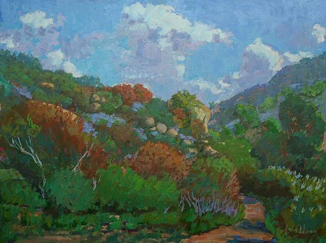 Rachel Uchizono original art oil landscape Laguna Canyon Market Gallery Roanoke Virginia
