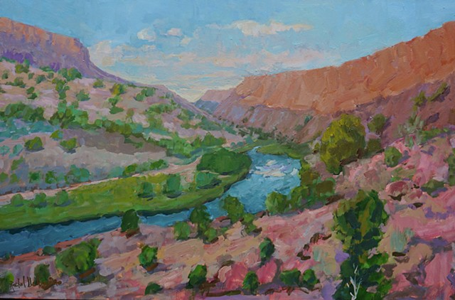 Rachel Uchizono original art oil landscape St. George Market Gallery Roanoke Virginia