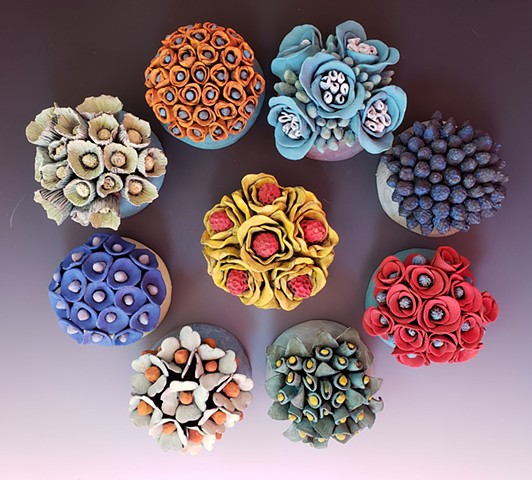 Kim Lashley-Sutliff flower wall tiles