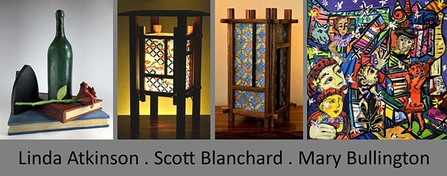 September 2020 Featured Artists Exhibition: Linda Atkinson . Scott Blanchard . Mary Bullington
