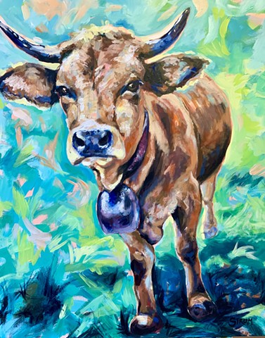 Natalie Strum original artwork cow