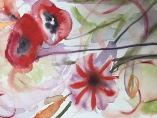 Val Alessi original artwork Poppies