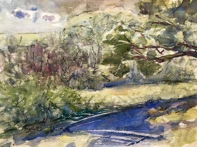 Brett LaGue watercolor landscape Market Gallery Roanoke Virginia