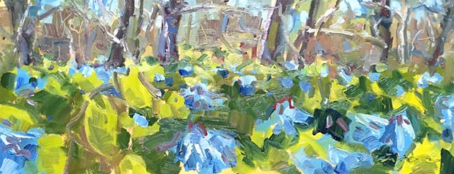 Brett LaGue original artwork landscape Bluebells