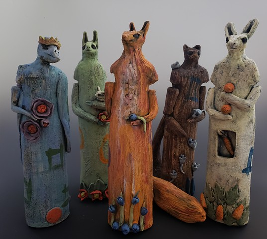 Kim Lashley-Sutliff ceramic animal sculptures
