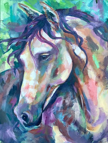 Natalie Strum original artwork horse