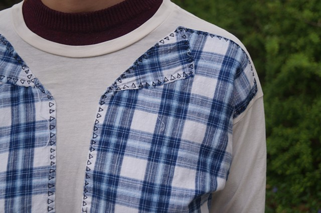 Blue Plaid Tee (detail)