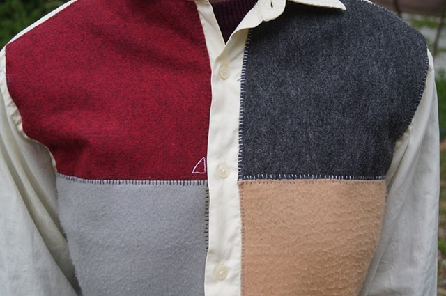Felt Dress Shirt (detail)