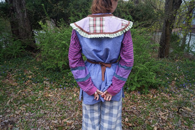 Quilted Half-Apron and Collar set (reverse)