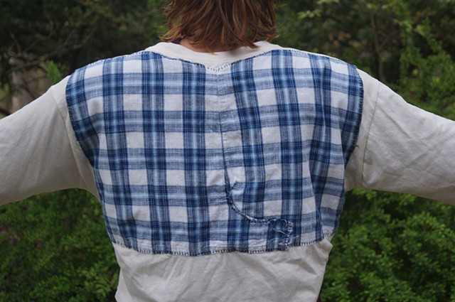 Blue Plaid Tee (reverse)