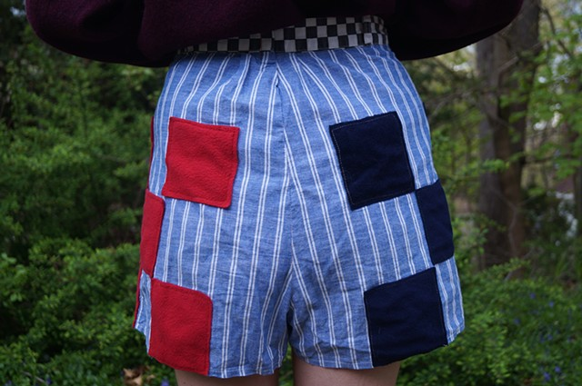 Checked shorts (reverse)