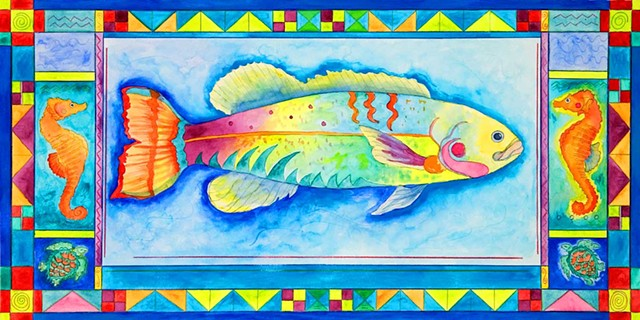 Greeting Card, Tropical Fish