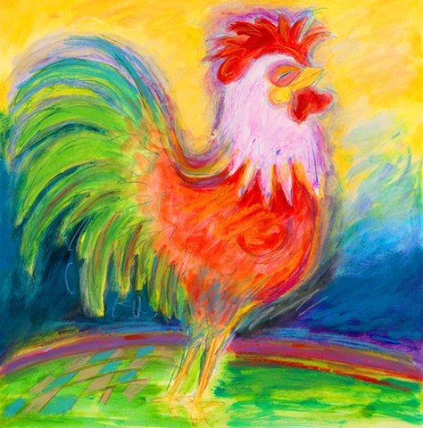 Greeting Card, Gallo Rooster