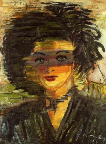 Parisienne with Black Hat 1953 45x62cm