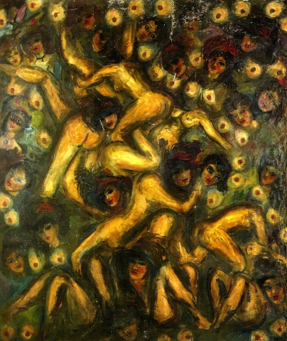 The orgies of Lesvos  c.1947 260x220cm
