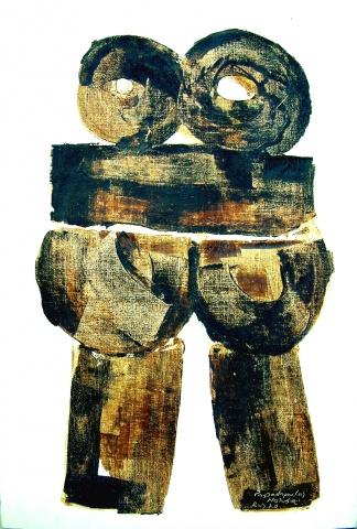 NONDA  (1922-2005) Serie en Spleen 1970, 100 x 145 cm