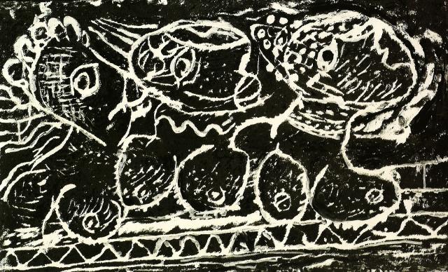 Femmes au Balcon 1991 Ink engraving, 99 x 70 cm