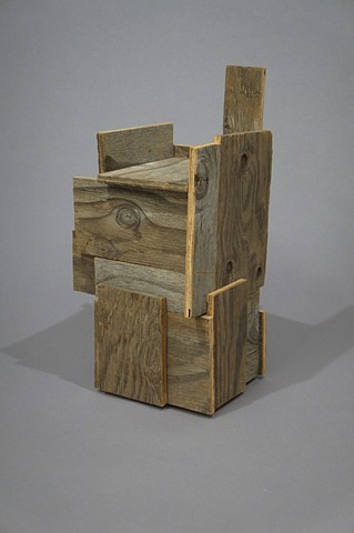 rustic wood sculpture, architecture, scrap wood