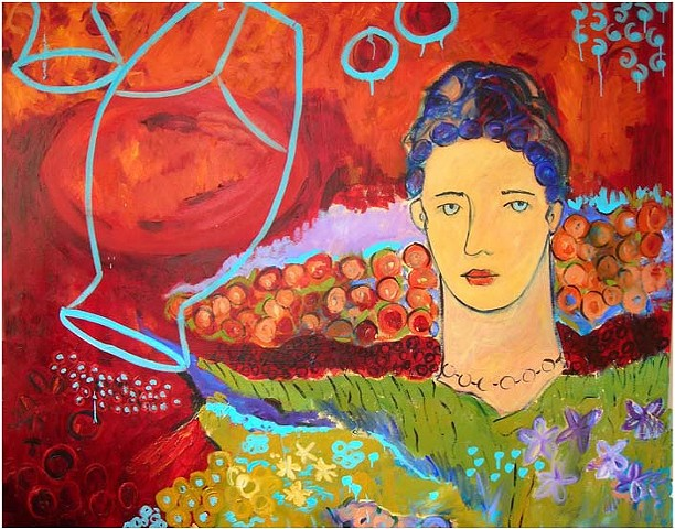 oil paintings, original paintings, oil on canvas painting, Israeli painter, israeli artist, colorful painting, female painting