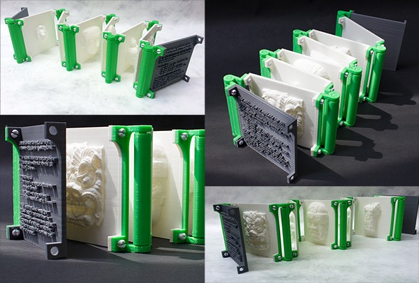 Orihon, 3D Printed Accordion Book, 3D Printed PLA, 11 x 8.5 x 5.5 inches Signed edition of 50