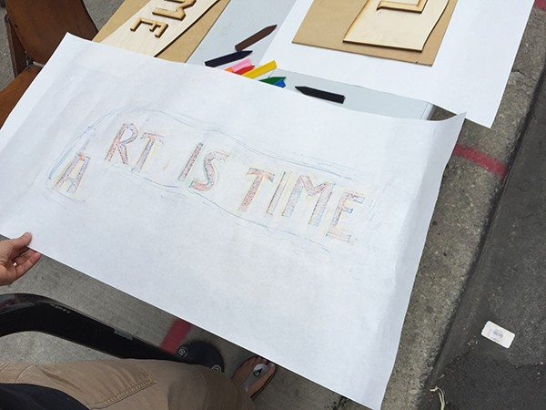 Long Is Time Fleeting Is Art, 2018, Performative Maker Space, Duration 180 mins
