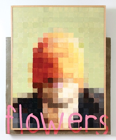 Self Portrait with Flowers