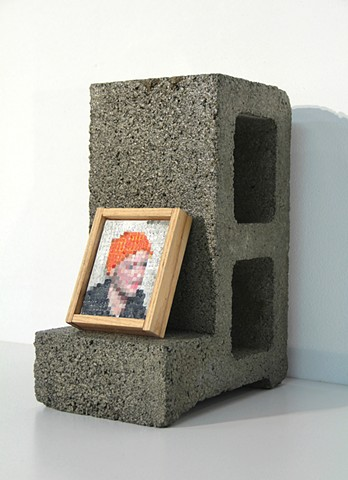 An Attempt To Paint A Self Portrait In The Style Of A Cinderblock