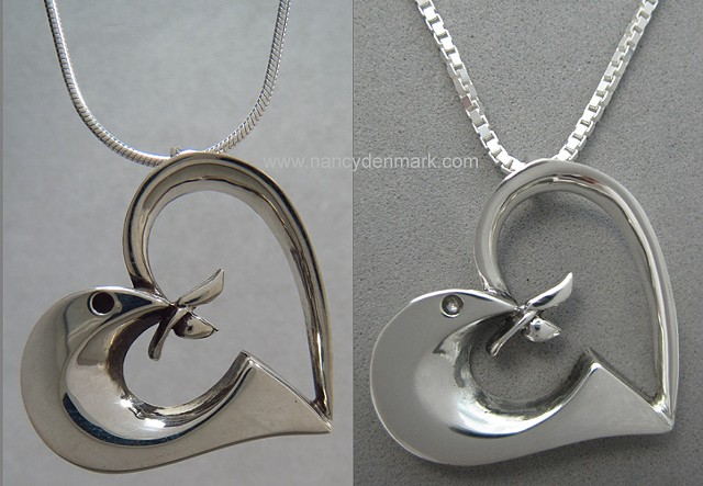 Peace of the Lord Pendant shown on 2 chain styles