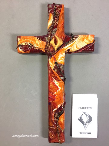 filled with the spirit collage cross