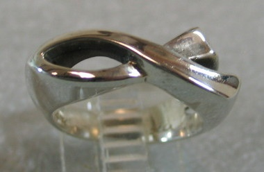 sterling silver ichthus fish ring © Nancy Denmark