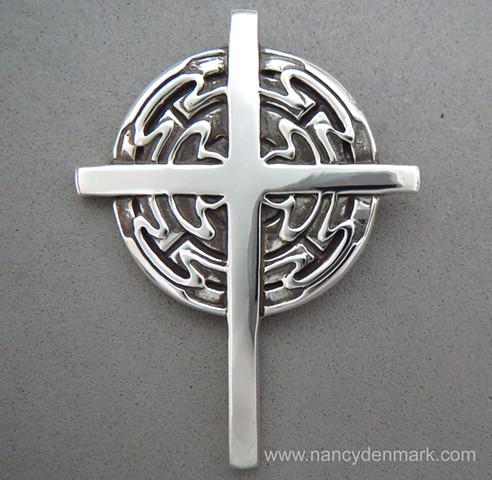 sterling silver Spirit Flow cross design ©Nancy Denmark