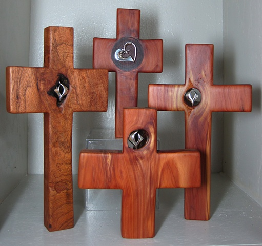 4 CROSSES WITH STERLING SYMBOLS
