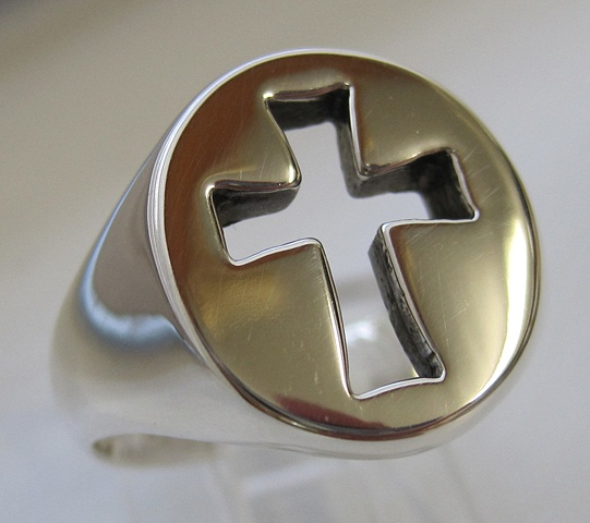 sterling silver cut out cross ring © Nancy Denmark