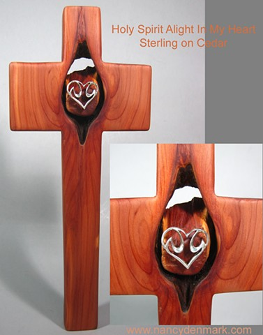 Sterling Dove on Cedar Cross by Nancy Denmark and Margaret Bailey