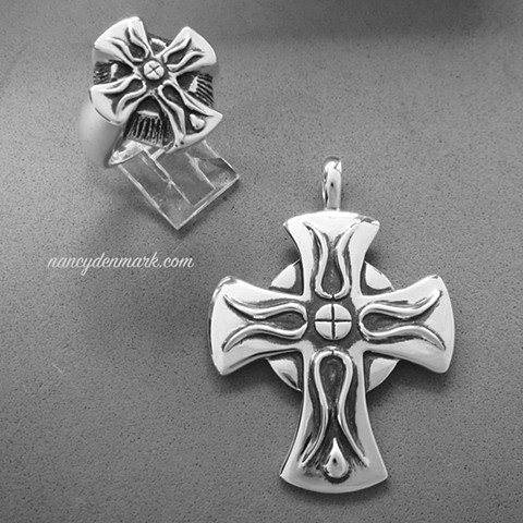 Cross of Iona ring and pendant set designed by Nancy Denmark