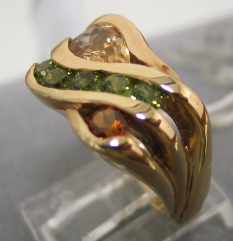 14K Multi Gemstone Ring