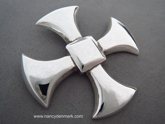 Sterling Silver Canterbury Cross © Nancy Denmark