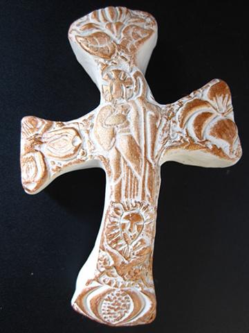 GOLD GOOD SHEPHERD HAND HELD CROSS #2