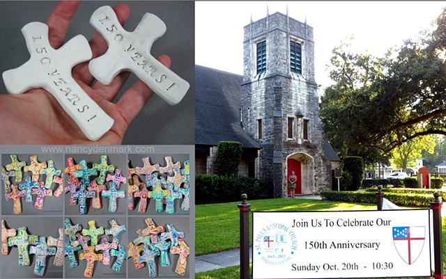 Special order hand crosses made by Nancy Denmark for 150th anniversary of St. Paul's Episcopal Church, Orange, TX