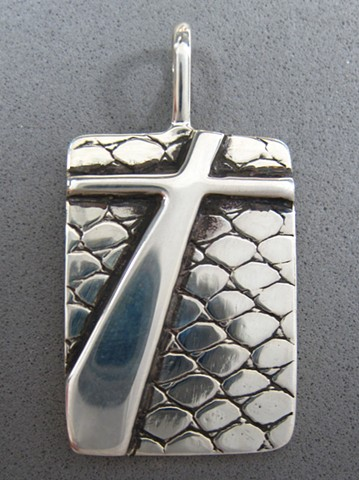 sterling silver cross pendant © Nancy Denmark