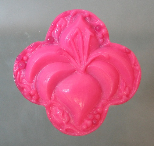 WAX MODEL OF LILY QUATREFOIL PENDANT