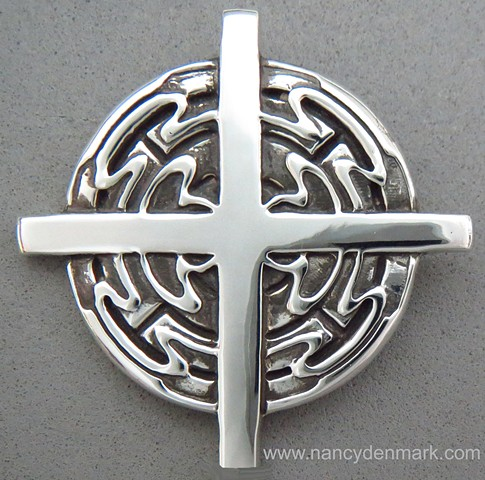 sterling silver Spirit Flow cross pendant jewelry design ©Nancy Denmark