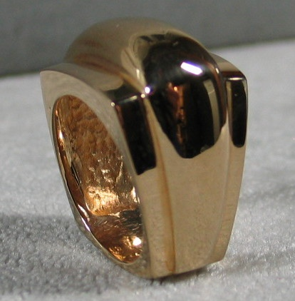 R26 DOME RING END VIEW 14K