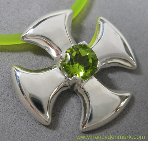 Small Canterbury Cross with peridot ©Nancy Denmark
