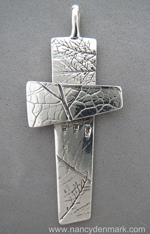 sterling silver Impressions of Nature Cross ©Nancy Denmark