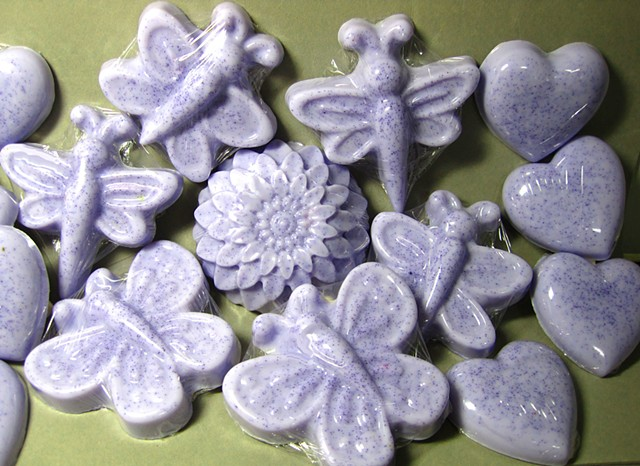 Lavender Black Amber scented soap made by Nancy Denmark